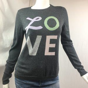 "The Limited S ""LOVE"" sweater cotton blend"